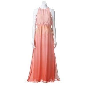 LC Lauren Conrad Dip-Dye Chiffon Maxi Dress